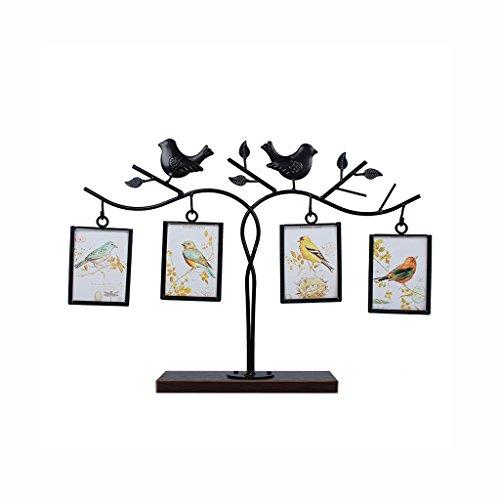 American Creative Eisen Vogel Bilderrahmen, kreative hängende Wohnzimmer Schlafzimmer Nacht Bilderrahmen, hohe Qualität Massivholz Basis Kinderzimmer Hochzeitsgeschenk Bilderrahmen, 4 Zoll, 5 Zoll, 6 Zoll ( Größe : 5 inches )