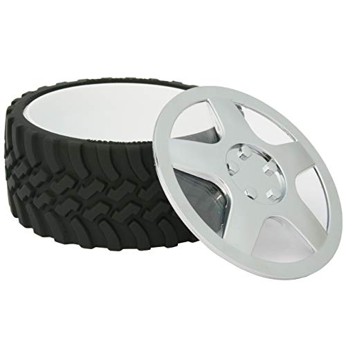 WRENCHWARE – Knobby Tread Rubberized Tire Bowl the perfect gifts for men who have everything. Great Motorhead Gifts, NASCAR Gift Ideas and makes a fun office Candy dish, Popcorn bowl, and ice cream bowl. Great gift for a man cave or workshop.
