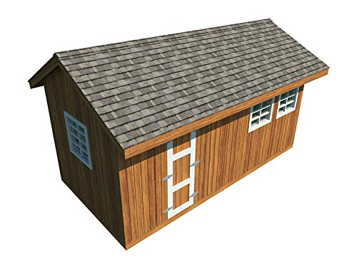 Garden Storage Shed Plans DIY Gable Roof Design Backyard Utility House 10' x 20'