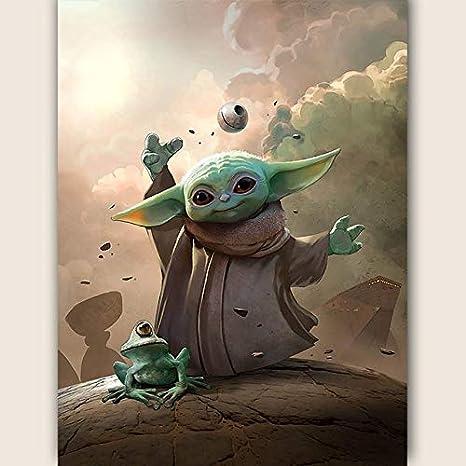 5D Diamond Painting Movie Star wars Master Yoda Diamond Bordado Full Square Mosaic Wall Art Picture Decoraci/ón del hogar Regalo de los ni/ños