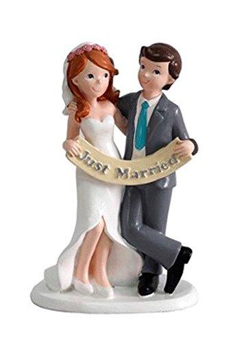 DISOK - Figura Pastel Just Married Recién Casados Figuras para el Pastel, Tartas Nupcial de Bodas Casados, Comprar Baratas Online Bodas Outlet