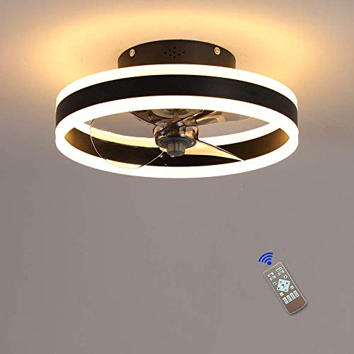 WBDZ Ventilador de Techo 2021 con Luces y Control Remoto, Luces de Techo contemporáneas Regulables 60W, luz de Ventilador para Sala de Estar, Dormitorio