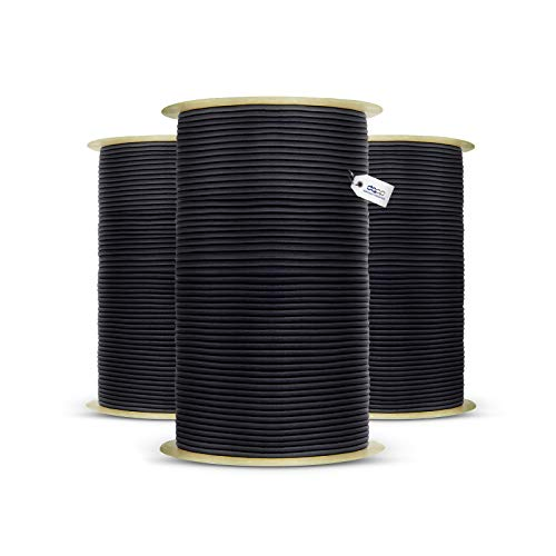 15m corde élastique câble 10mm noir - plusieurs tailles et couleurs