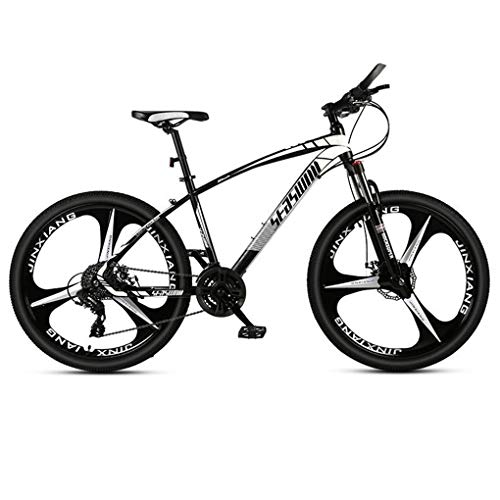 Kays Mountain Bike,Unisex Hardtail Mountain Bicycles,Dual Disc Brake Front Suspension,Carbon Steel Frame,26 Inch Mag Wheel (Color : Black, Size : 24 Speed)