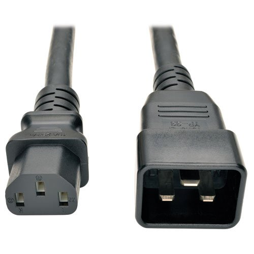 TRIPP LITE P032003 Heavy Duty Power Cord PDU 15Amp 12AWG IEC 320 C13 C20 3#039 Black