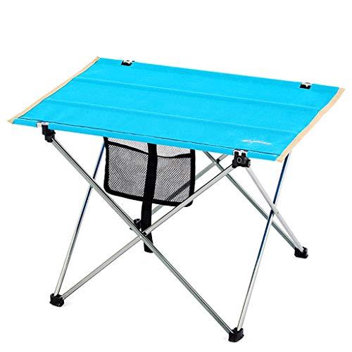LZL Tablas Plegables de Picnic de Barbacoa Mesa de Aluminio para mesas de Comedor al Aire Libre para Camping/Banquete/Picnic Fiesta/jardín BBQ - Ajustable en Altura (Color : Blue)