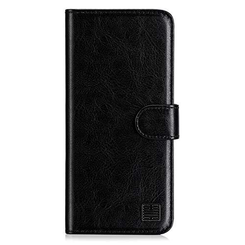 32nd PU Leder Mappen Hülle Flip Hülle Cover für OnePlus 8, Ledertasche hüllen mit Magnetverschluss & Kartensteckplatz - Schwarz