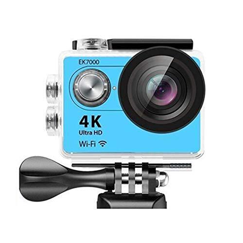 RJJG 4K acción de la cámara de vídeo al Aire Libre EK7000 WiFi Deportes Extremos Ultra HD 12MP Impermeable de Buceo bajo el Agua de levas l11.10A (Color : Blue EK7000)