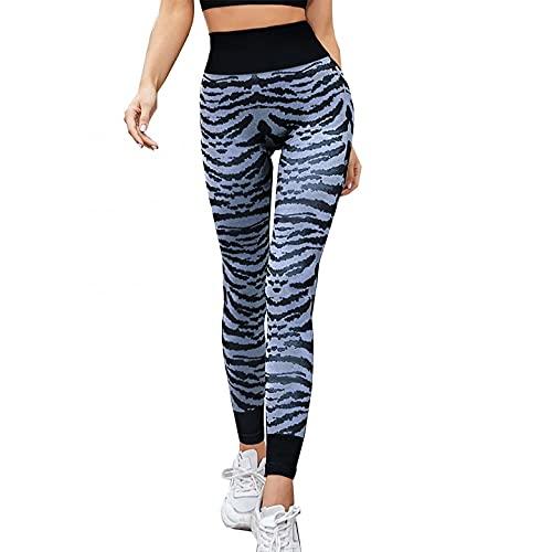BIBOKAOKE Leggings de deporte para mujer, diseño de leopardo, pantalones de yoga, leggings, opacos, largos, pantalones de chándal para tiempo libre, fitness y entrenamiento, ajustados y elásticos