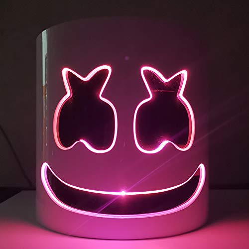 AP.DISHU DJ Marshma Helm Masker DJ Muziek Festival Masker Helm Party Nieuwigheid Kostuum Masker Hard PVC Materiaal LED Kleur Koud Licht