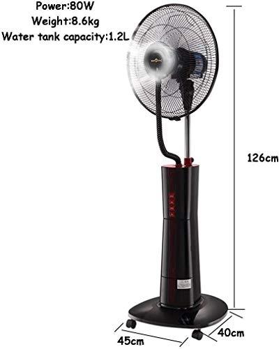 Ventilator voor huishoudelijke apparaten JHome-Pedestal Fans Pedestal Tower Fan Verneveling Fans met Oscillerende Cooling Mist Switchable luchtbevochtiger LED display met symbolen for Binnenlandse Zak