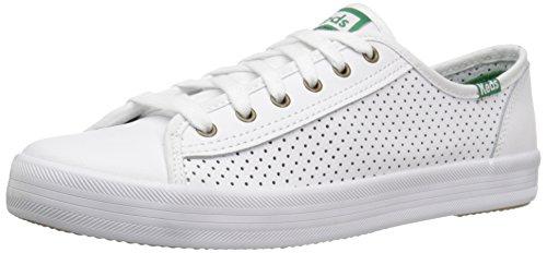 Keds Damen Kickstart Leather Sneaker, Weiß (White), 40.5 EU