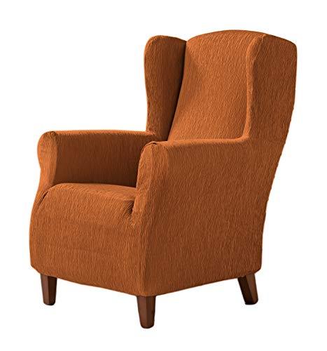 Zebra Textil Elastische Husse für Ohrensessel Beta Größe 1 Sitzer (Standard), Farbe Orange (Mehrere Farben verfügbar)