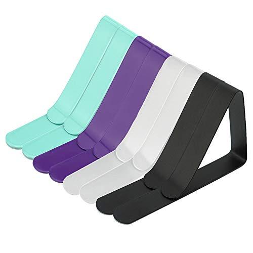 Elinala Pinzas Sujeta Manteles, Sujeta Manteles Exterior, 8PCS Clip de Fijación de Mantel Multicolor Ajustable de Acero Inoxidable