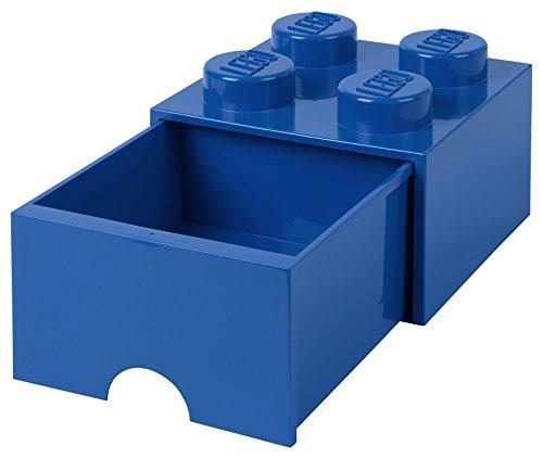 Room Copenhagen 40051731 Storage Brick 4 mit Schubladen, Plastik, Blau, 25 x 25,2 cm