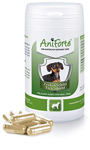 AniForte tick protection for dogs (small to 10kg) 60 capsules - Natural tick shield through skin barrier, tick repellent for parasites, prevention of tick bites, tick tablets for tick protection