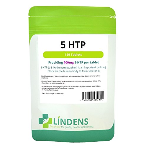 Lindens 5-HTP 100mg 3-PACK 360 Tabletten L-5-Hydroxytryptophan Griffonia