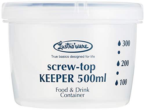 岩崎食品保存容器クイック開閉スクリュートップキーパー500浅型抗菌B-2271KN