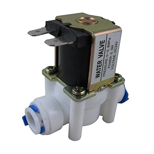 """Akent 1/4"""" DC12V Inlet Feed Water Solenoid Valve Quick Connect for RO Reverse Osmosis (12V 1/4"""")"""