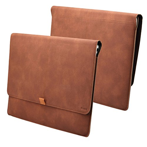 Valkit Microsoft Surface Pro 3 Sleeve, Microsoft Surface Pro 4 Sleeve, Top Best Surface Pro 3 / Pro 4 Sleeve Bag, 12.3 inch PU Leather Tablet Carrying Cases and Covers with Card Slot, Brown