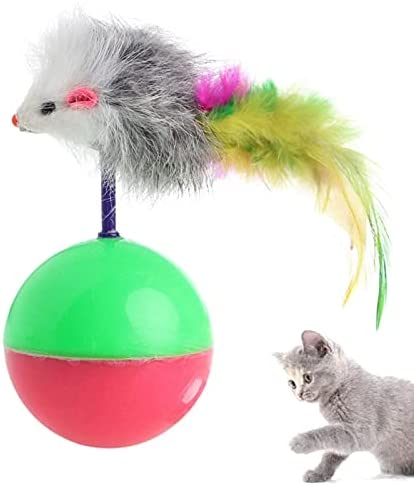 New Pet Dog Cat Play Shipping included Tumbler Mouse False Activi Toy Ball It is very popular Feather