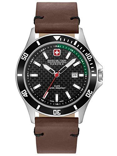 Swiss Military Hanowa Unisex Erwachsene Analog Quarz Uhr mit Edelstahl Armband 06-4161.2.04.007.06