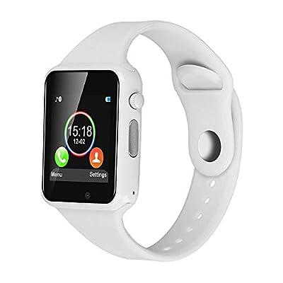 DOROIM Smart Watch Bluetooth Smart Watch Sport Fitness Tracker Wrist Watch Touchscreen,Compatible iPhone iOS Samsung LG Android Women Men Kids (white) by DOROIM