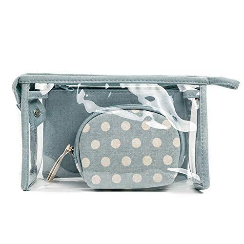 Lovemay Sac à cosmétiques pour femmes Polka Dot Transparent Pvc Ladies Travel Wash Bag 14 * 24 * 6.5 cm