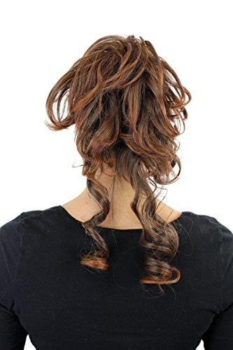 WIG ME UP - Postiche avec peigne, volumineux, boucles tombantes, baroque, brun brunette, YZF-3072HT-2T30