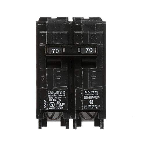 Siemens US2:Q270P 70 Amp - Interruptor de circuito QP de doble polo