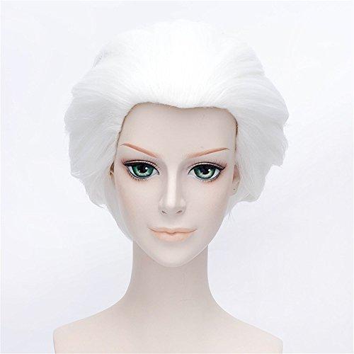 LanTing Cosplay Perücke Fate Stay Night Emiya Shirou Silver White Perücke Corta Styled Frauen Cosplay Party Fashion Anime Human Costume Full wigs Synthetic Haar Heat Resistant Fiber