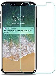 خفف من الزجاج حامي الشاشة لابل اي فون X (5.8 بوصة)، شفافة