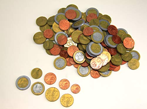 WISSNER® aktiv lernen - 160 EURO Rechengeld Münzen - RE-Plastic®
