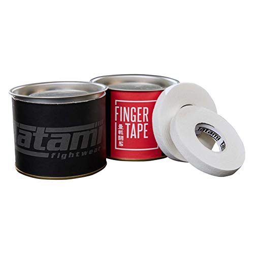 Tatami Fightwear Grapplers Finger Tape - BJJ Sporttape - 4 Rollen a 9mm Finger Tape Sporttape für Kampfsport MMA Brazilian Jiu Jitsu Grappling - Tolle Tatami Dosenverpackung für unterwegs