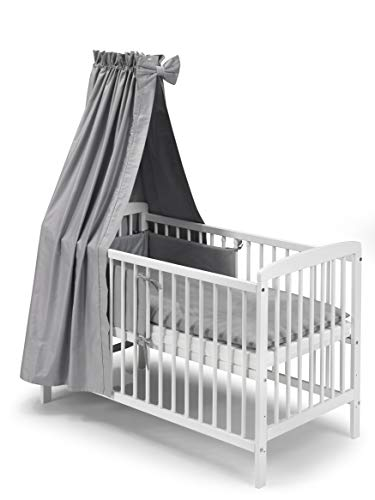 KOKO Babybett Kinderbett Beistellbett JULIA Komplettausstattung 0925-SR