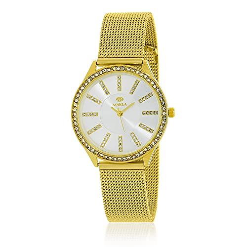 Reloj Analógico Marea B41276/6 Mujer Malla Dorado