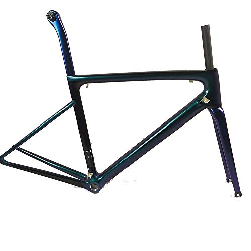 Zhengowen OS Fahrradrahmen Carbonrahmen Carbon-Faser-Composite-Carbon-Faser Fahrradrahmen Fahrrad-Rahmen Kohlefaser-Rahmen (Farbe : Schwarz, Größe : Einheitsgröße)