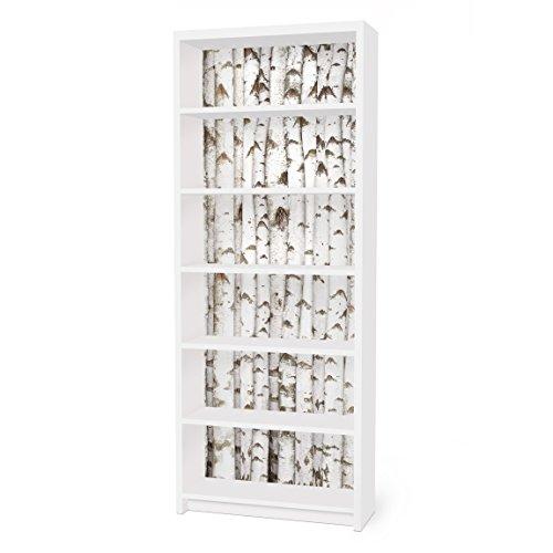 Möbelfolie für IKEA Billy Regal Klebefolie Deko Aufkleber Birkenwand 2X 94x76cm