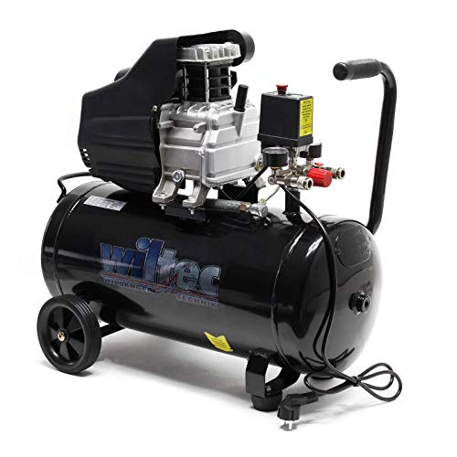 Persluchtcompressor met 50 l ketel, 1100 W 1,5 pk 110 l/min werkplaatscompressor