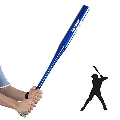 Bate de béisbol, de aleación de aluminio, ligero, bate de béisbol, antideslizante, para softball y deportes al aire libre (32 pulgadas, 82 cm, azul)
