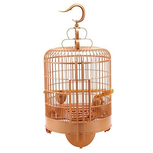 Aiglen Jaula para pájaros Conjunto de transporte de viaje transpirable Jaula para pájaros con alimentador y bebedero Pequeña mascota Pájaro Plástico Casa para pájaros Tordo Jaula para loros
