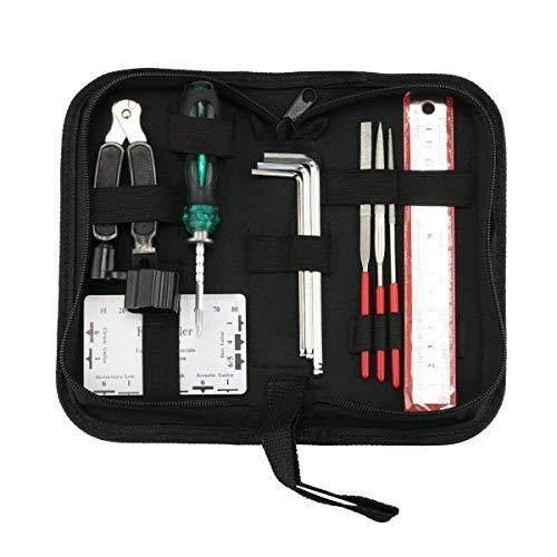 Guitar Repair and Maintenance Tools Accessories Kit Portable Bag Guitar Files...