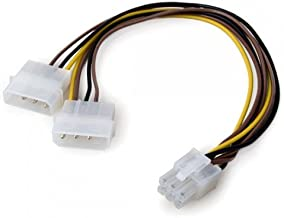 Link Depot 4-Pin to 6-Pin PCI Express Power Adapter (8 Inches)
