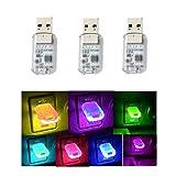 Yih Vane 3pcs Mini USB LED Lichter Touch und Sprachsteuerung Auto LED Innenbeleuchtung für Computer...