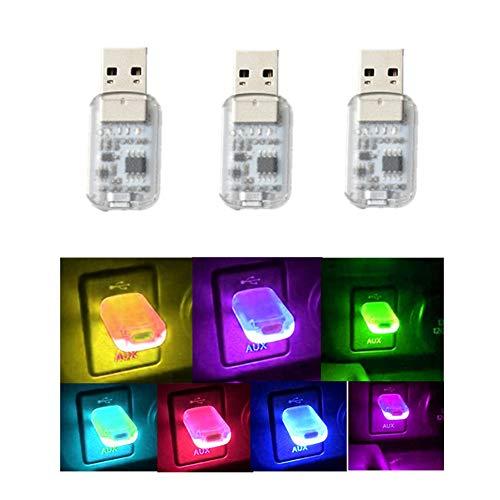 Yih Vane 3pcs Mini USB LED Lichter Touch und Sprachsteuerung Auto LED Innenbeleuchtung für Computer Auto