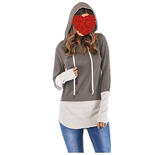 Sudadera con capucha personalizable con cordón para el pulgar para mujer