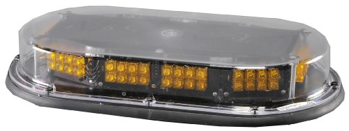 North American Signal MMBSLEDFL-C/A LED Mini Light Bar with Permanent Mount, 12/24V, 1.4A Current, Amber