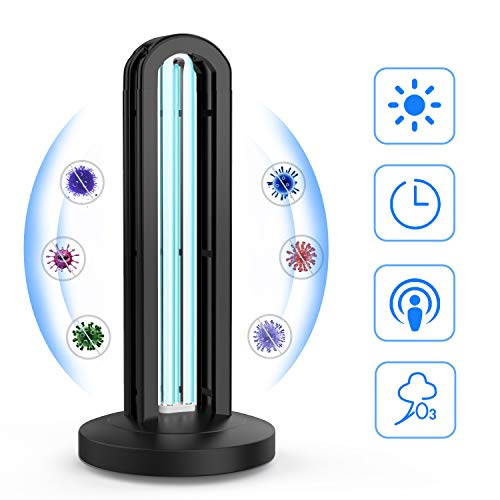 UV-C Keimtötende Lampe, OKF UV Ozon Sterilisation Lampe 36W, 15 Sekunden Verzögerung Start, für Wohngebiet Toilette Heimtierbereich Hotel