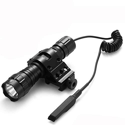 Linterna Táctica Antorcha de Caza LED Xm-l T6 1000 lm 3.7-18V 1 modo Ultra Brillante Tácticas Antorcha de Mano con Interruptor de presión (batería no incluida), Uso para Camping, Senderismo, Pesca ⭐