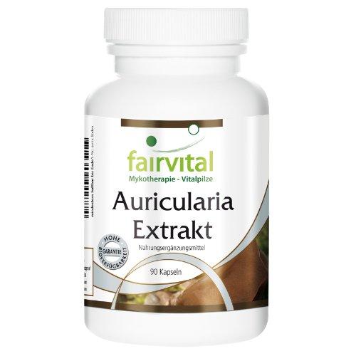Auricularia Extrakt 500mg - HOCHDOSIERT - Judasohr - 30% Polysaccharide - VEGAN - 90 Kapseln